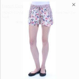 FRENCH CONNECTION Womens Ivory Tie Floral Short